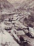 Le blocage de la route par les exclus du Burzet
